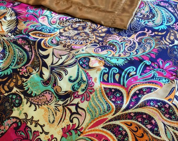 Silky Blanket 50 x 60 Lap Blanket, luxurious silky satin blanket, baby shower, bridal shower, personalized blankets