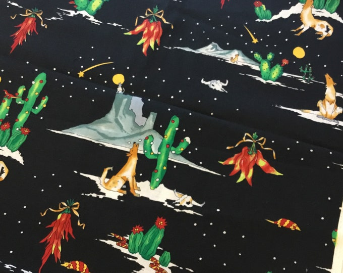 Fun cactus fabric by the yard, Cotton fabric 36x45, fun for crafting and sewing projects, same day shipping
