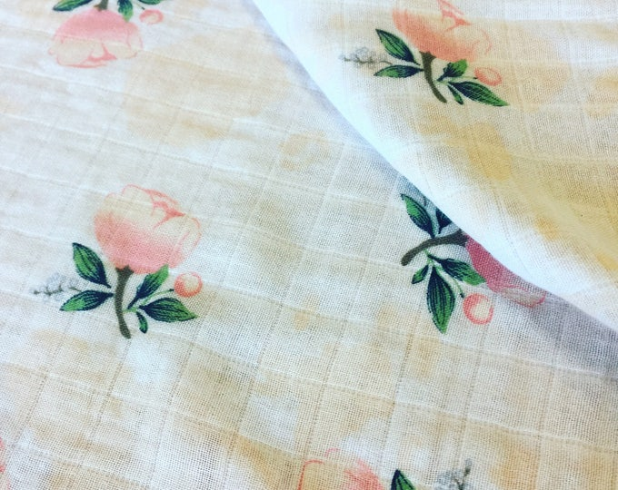 This beautiful floral silky lovey is 20x20 Rose muslin front, backed and edged with silky. Perfect for gift giving and receiving