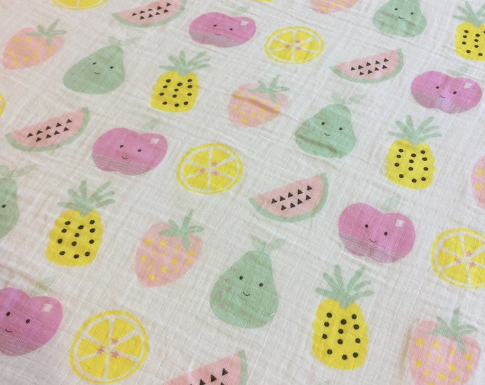 Adorable fruit Baby swaddle, receiving blanket, Double gauze swaddle, Muslin swaddle, cotton baby blanket, baby shower gift, homemade
