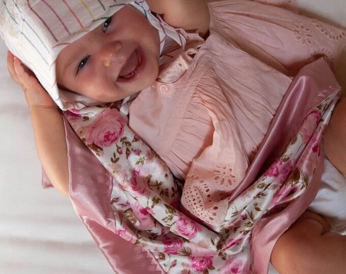Baby Blanket, Shabby Chic Silky Blanket, Custom baby blanket, Newborn baby blanket, Watermelon, Baby Shower gift, Lovey.