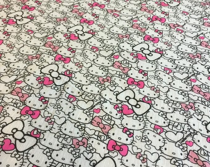 Double gauze swaddle, Muslin swaddle, Hello Kitty receiving blanket, baby swaddle, cotton baby blanket, baby girl, baby shower gift, unique