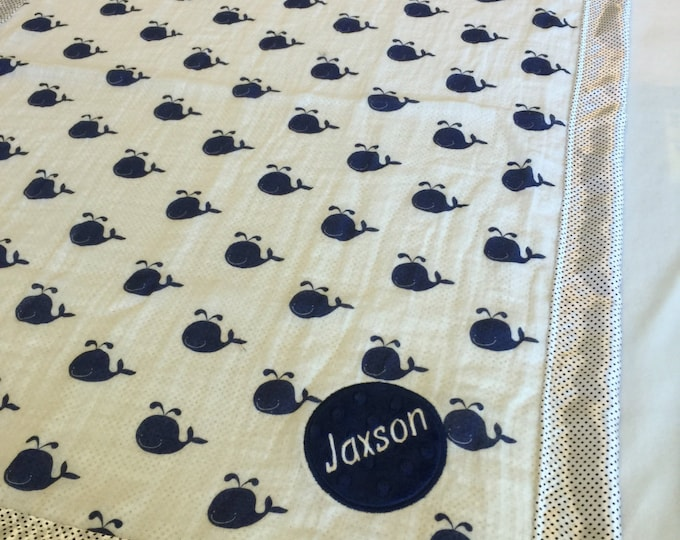 Personalized Baby Blanket, breathable muslin front, backed & edged with high quality silky fabric. babyblanket, babyblankets, homemade.