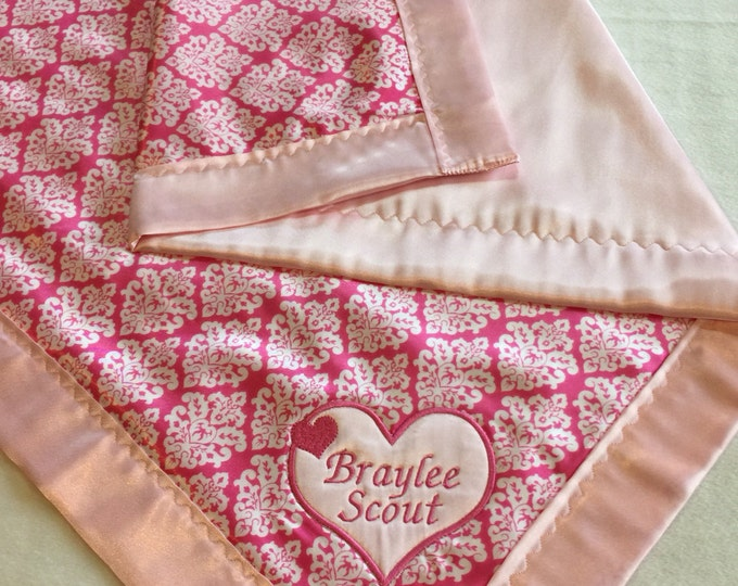 Baby Blanket-Crib Blanket-Silky Blanket-baby boy-baby girl-silky-baby shower