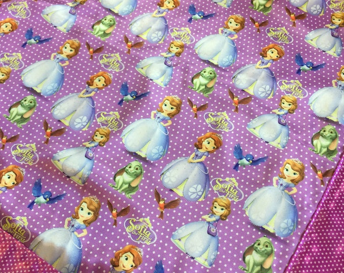Disney Sofia the first. Baby blanket, Silky blanket, Stroller blanket, Lovey, silky, Homemade.
