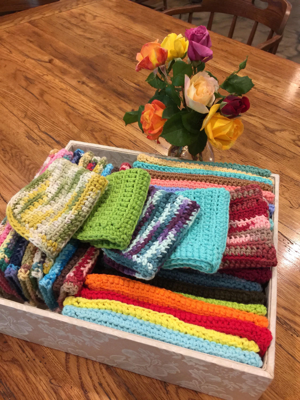 Crochet Dish Cloths Crochet Wash Cloths 100 Cotton Crochet Dish