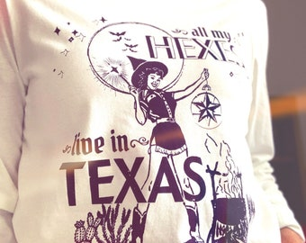 All My Hexes Live in Texas White Long-Sleeve Tee