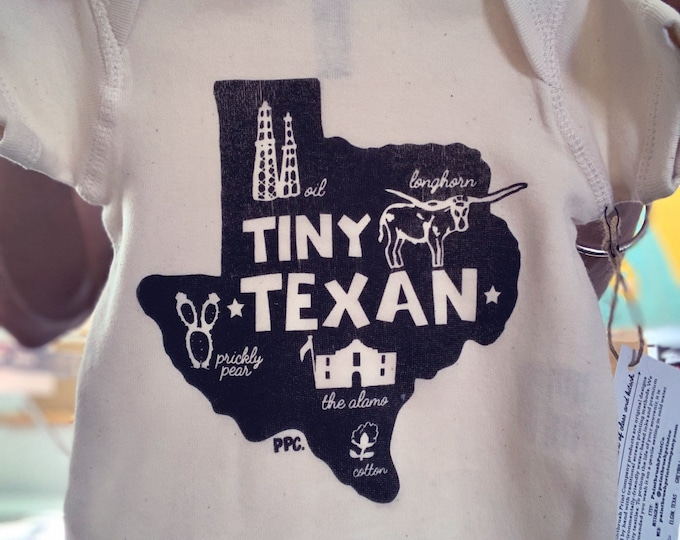 The Tiny Texan Baby Romper/Onesie