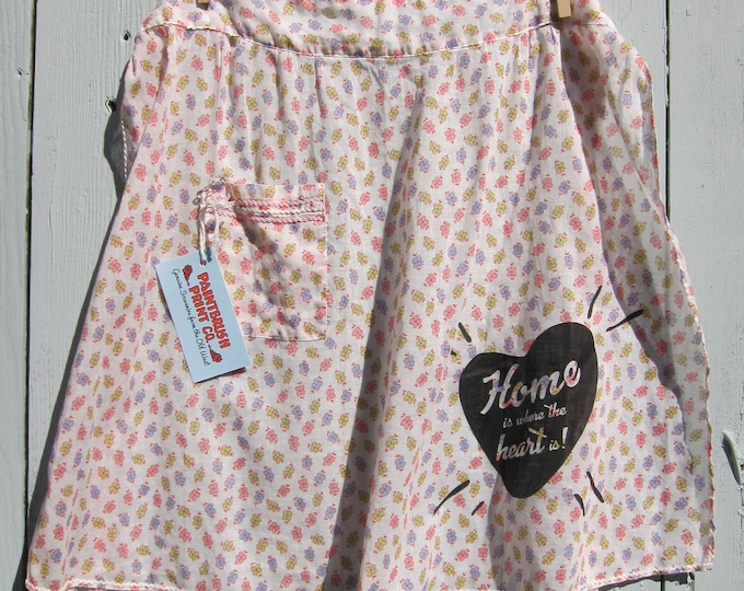 Rescued Vintage - Sheer Floral Apron with Tea Towel, Gift Set