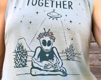 New Release! Together We Are Not Alone Yoga Tank