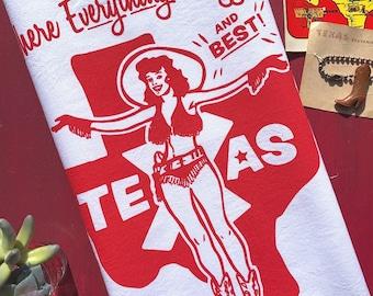 Biggest and Best in Texas Tea Towel