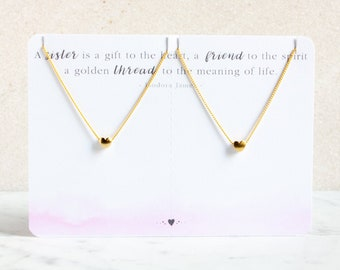 Sister Necklace Set   Heart Necklace Sister Jewelry Gift Sister Heart Necklace Sisters   Sister Gift for Sister Matching Sister Necklaces