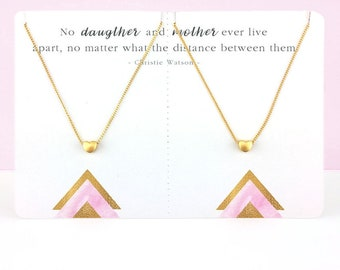 Mother Daughter Necklace | Mothers Day Gift for Mom Gift for Daughter Gift for her Matching Necklace Set