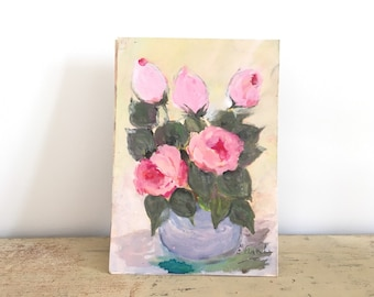 Small watercolor, bouquet of flowers.