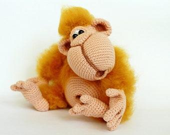 Orwell the Orangutan - Amigurumi Crochet Pattern | Affe häkeln ... | 270x340