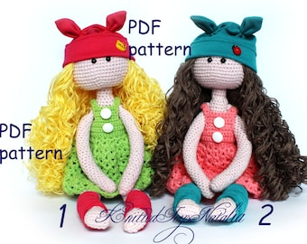 Crochet doll pattern Amigurumi doll pattern PDF doll Toy crochet pattern Doll tilda Crochet pattern PDF doll Dress crochet pattern