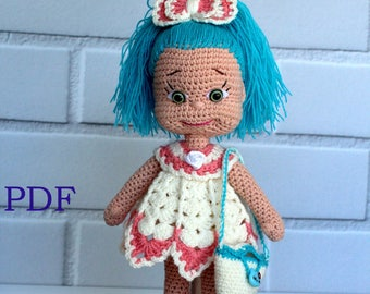 Crochet doll pattern Natasha  PDF Amigurumi crochet pattern Doll Аmigurumi doll pattern Crochet Doll
