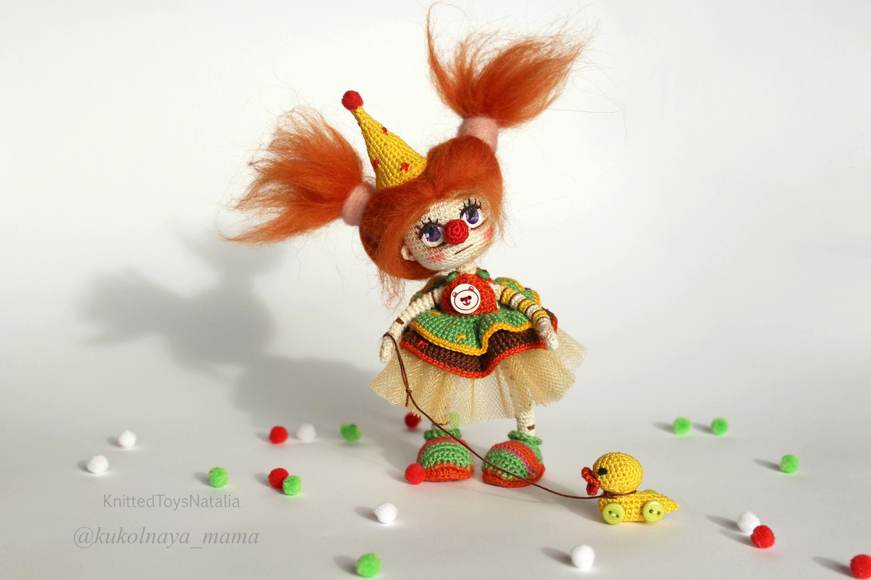 Miniatur Spielzeug Clown Amigurumi Puppe Zirkus Clown häkeln | Etsy