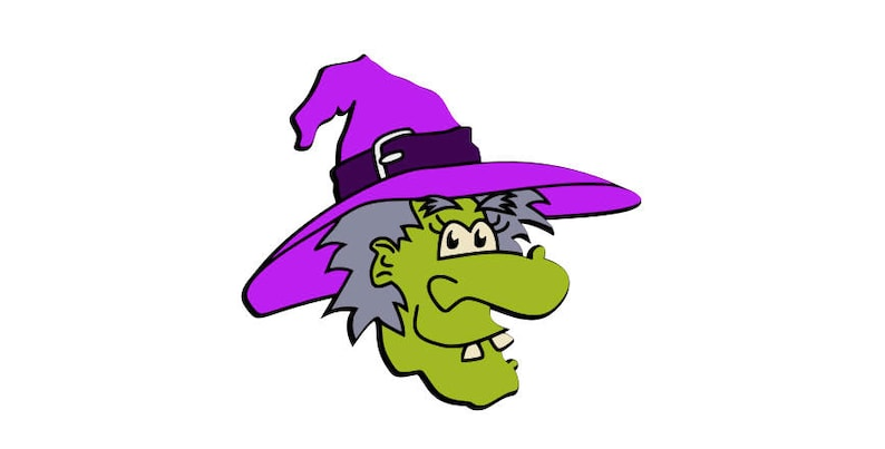 Halloween Green Witch dxf, png,eps,png,jpg,and pdf files,instant  downloads,svg files,halloween svg downloads,witch halloween svg files,svg