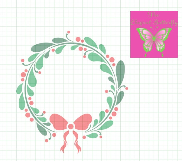 Christmas Wreath Svg Dxf Png Eps Jpg And Pdf Files Christmas Svg File Wreath Svg Downloads Holiday Wreath Svg File