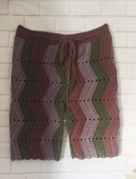 Crochet Chevron Shorts Size Small