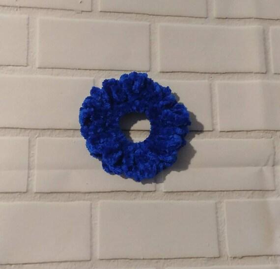 Velvet Crochet Scrunchy. 4 Colors to Choose From.