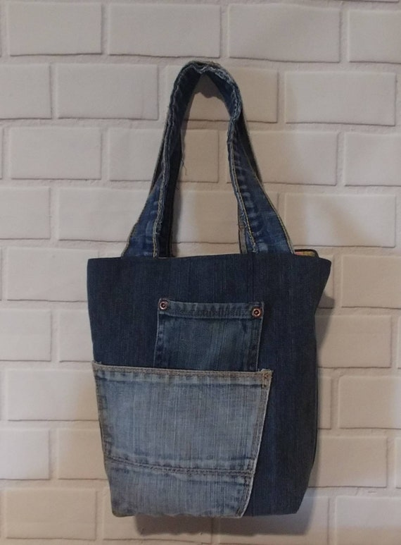 Small Denim Tote Bag