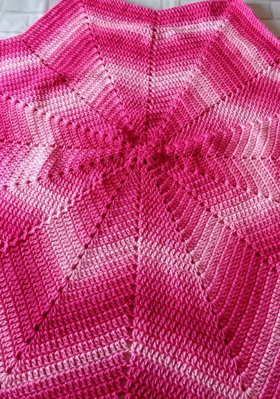 Pink Ombre Star Baby Blanket.