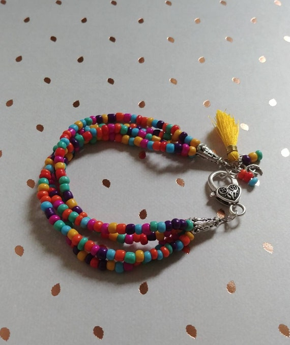 Fiesta Multistrand Beaded Bracelet
