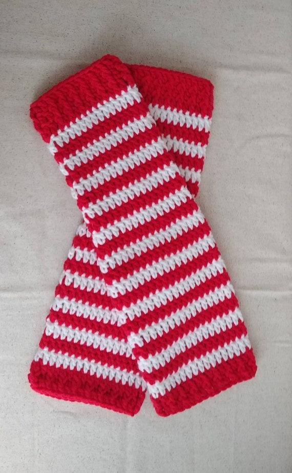 Women's Striped Christmas Leg Warmers