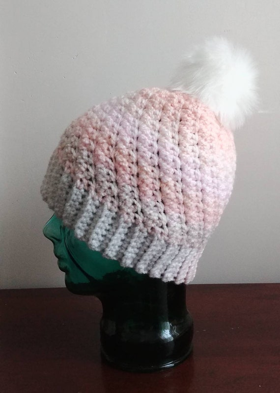 Pastel Women's Hat with Pom