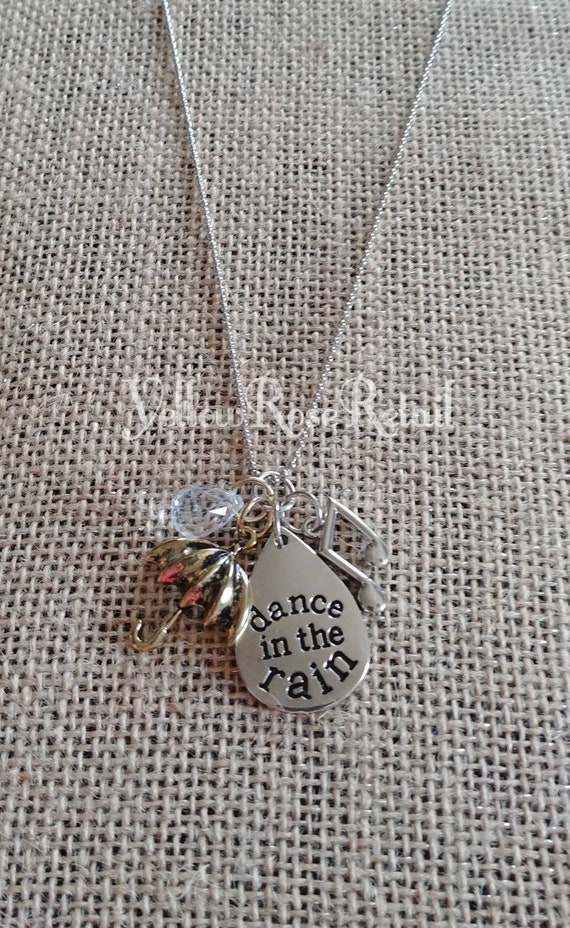 Sale! Dance in the Rain Charm Necklace