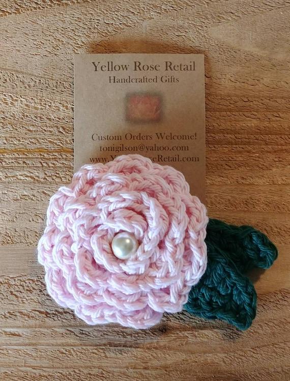 Cotton Rose Pin