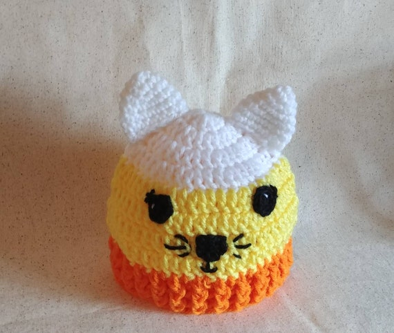 Candy Corn Kitty Hat