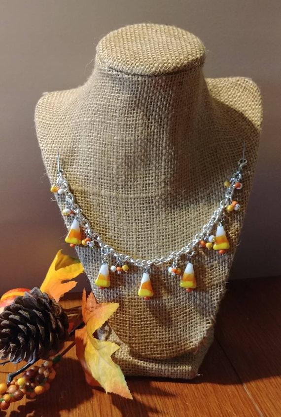 Candy Corn Charm Bracelet