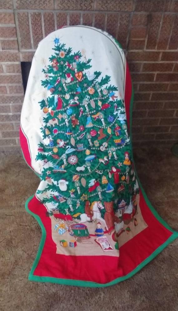 Sale! O' Christmas Tree Fleece Throw, Christmas Throw, Christmas Blanket, Fleece Blanket, Christmas Tree Throw, Fleece Throw, Christmas