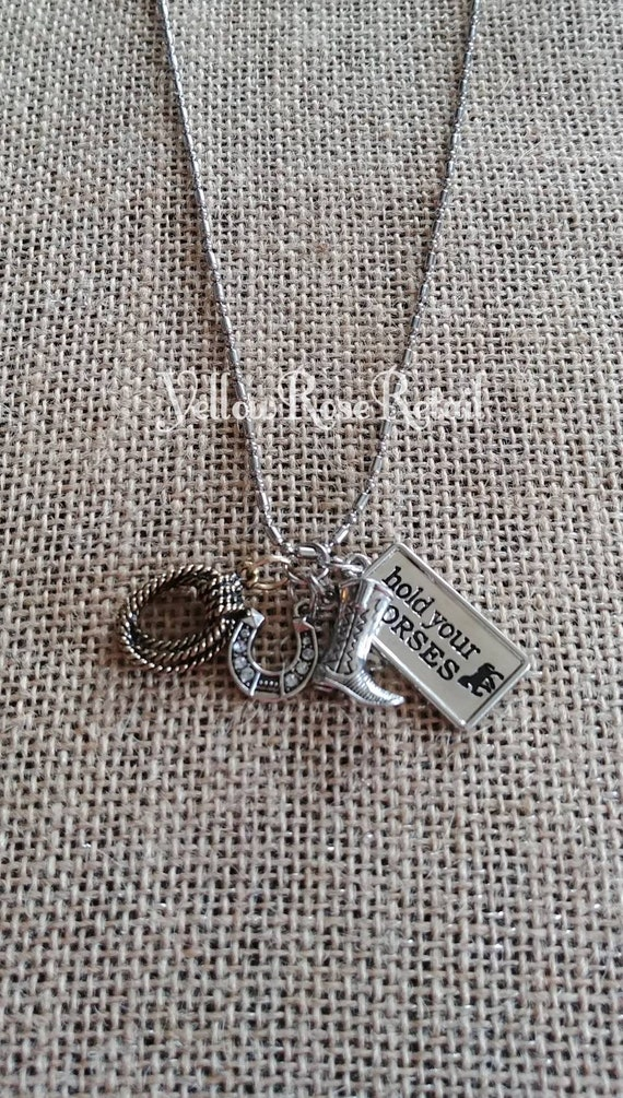 Sale! Hold Your Horses Charm Necklace