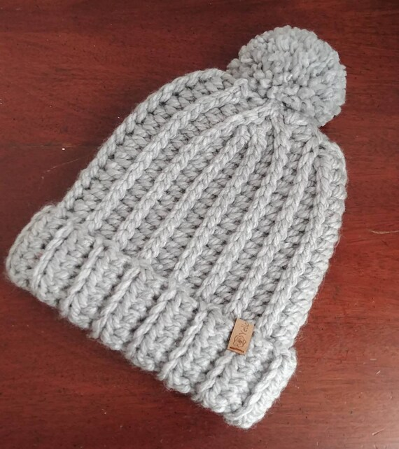 Chunky Gray Hat 2T-4T