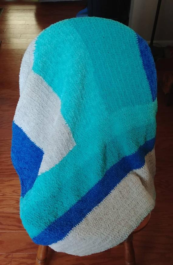 Fleece Color Block Throw.