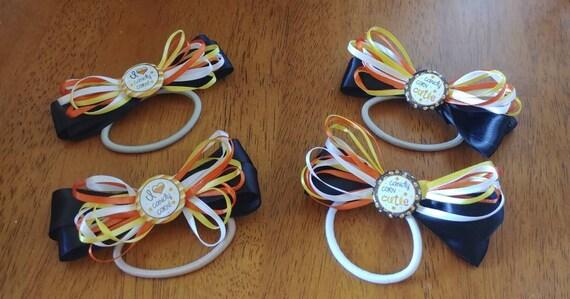 Candy Corn Hair Elastics Set of 2