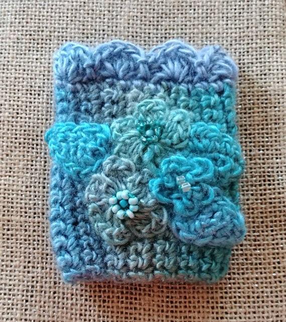 Crochet Cuff in Blues