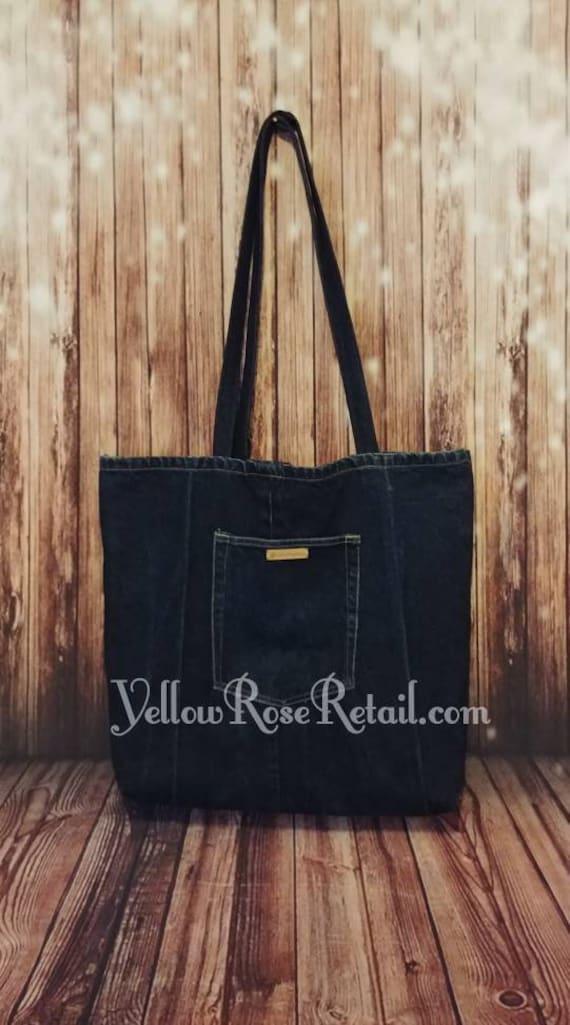 XL Upcycled Denim Tote Bag