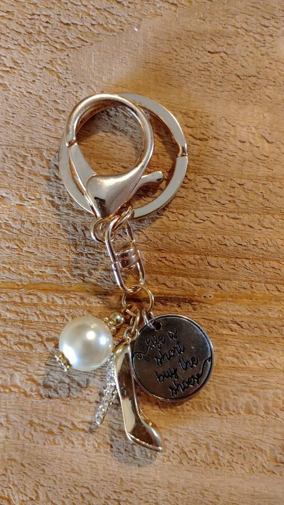 Shoe Lover Keychain Purse Charm