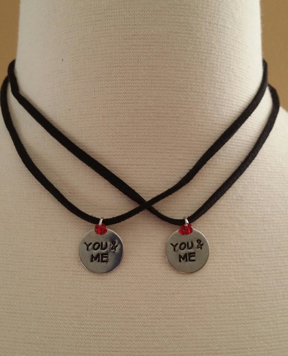 You & Me Charm Necklaces. Set of 2