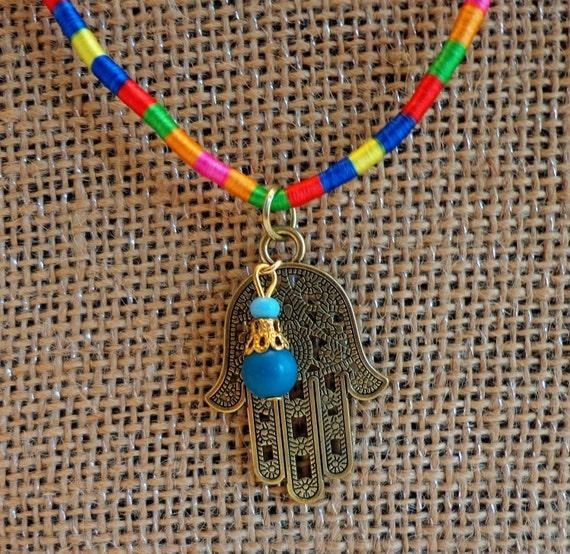 Hindu Hand Pendant Necklace