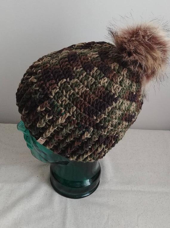 Camo Hat with Pom