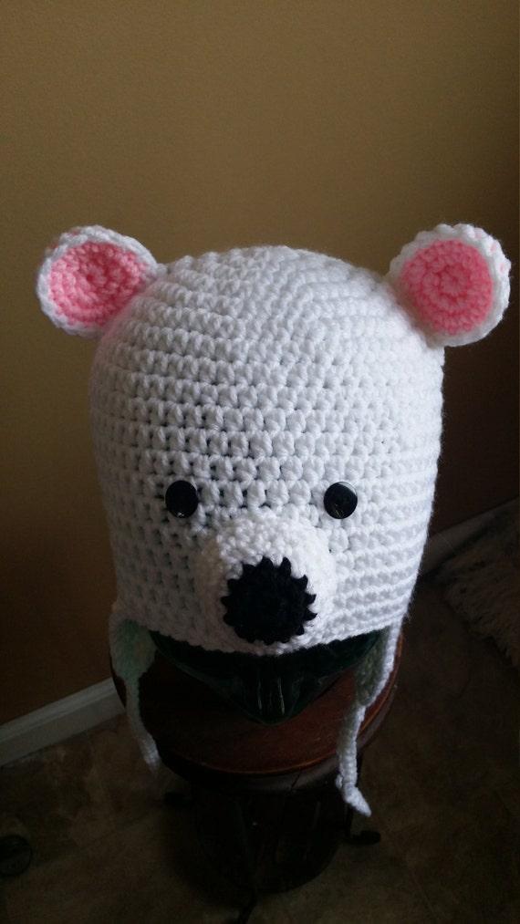 Polar Bear Earflap Hat
