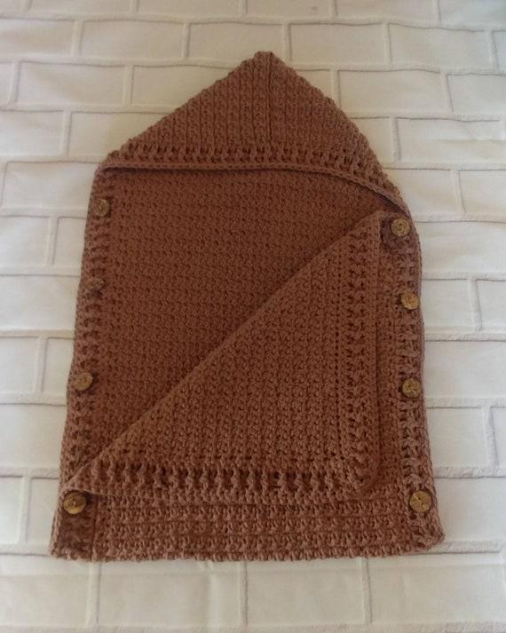 Crocheted Baby Hooded Sleep Sack