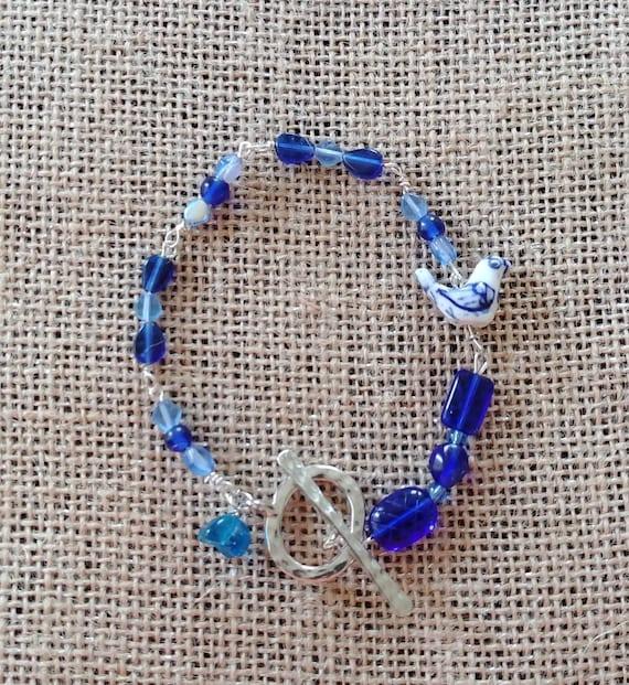 Blue Skies Beaded Bracelet