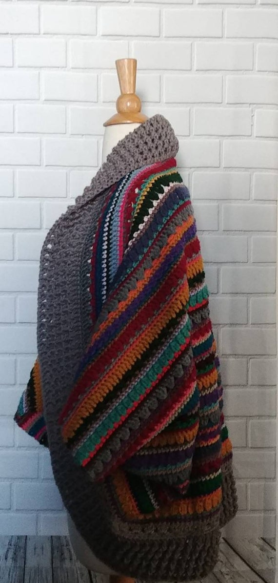 Multi-colored Coccoon Sweater